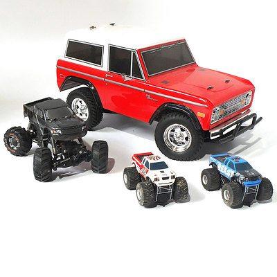 Assorted Monster Trucks & 4x4 - Lot of 4