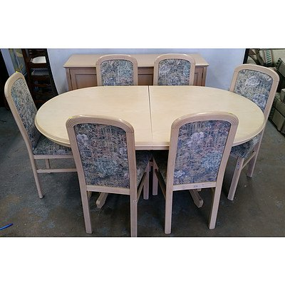 Dining Extension Table, Chairs and Sideboard