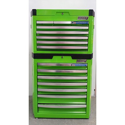 Kincrome Contour Green Stacking Tool Chest 15 Drawers