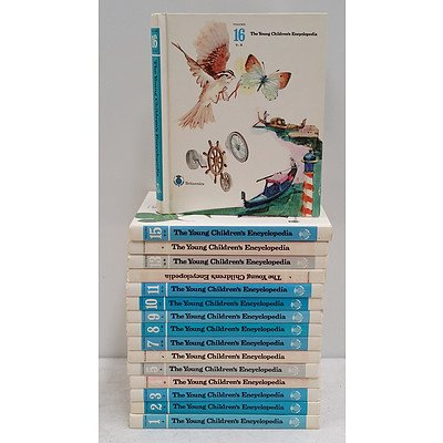 The Complete Set of 'The Young Children's Encyclopedia', Britannica (16 Books)