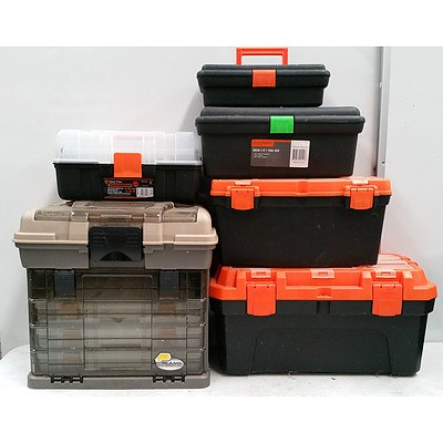 6 Assorted Portable Tool Boxes/Chests