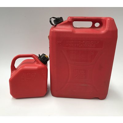 Two Fuel Containers 20L and 5L
