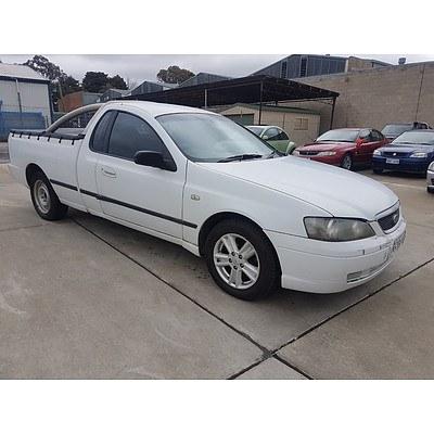3/2004 Ford Falcon XL BA Utility White 4.0L