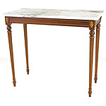Antique Style Italian Marble Top Side Table, Late 20th Century