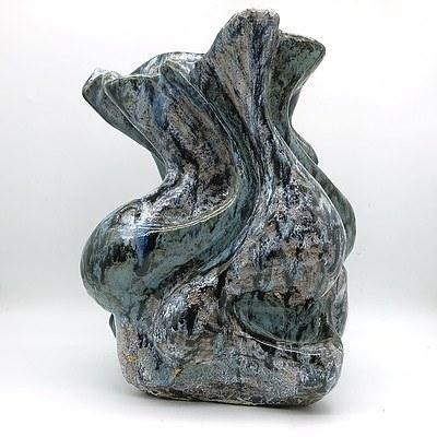 Large Abstract Glazed Studio Pottery Vase