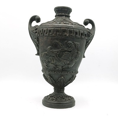 Contemporary Classical Style Patinated Metal Urn