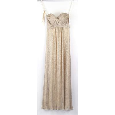 Ferrari Formal and Bridal Wear Gold Size 8 Formal Dress RRP $470