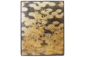 Good Japanese Finely Lacquered Wood Panel, Early 20th Century