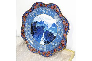 Chinese Cloisonne Enamel Dish, In Presentation Box