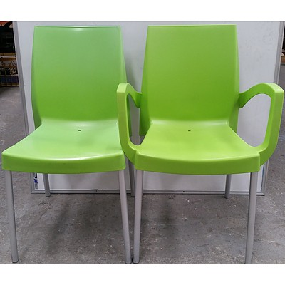Plastic Cafe/Occasional Chairs  - Lot of 14