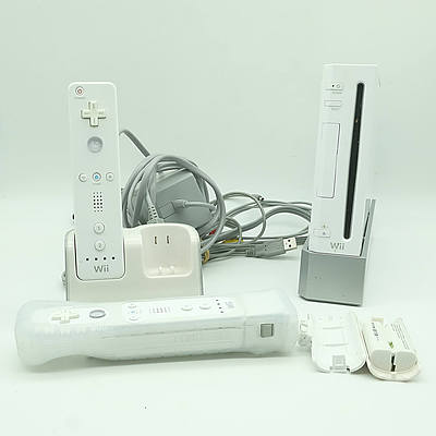Nintendo Wii Console, Including Two Controllers, Charging Station, and More