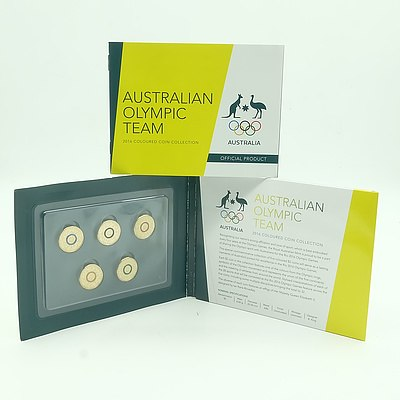 2016 Australian Olympic Team Coloured $2 Coins