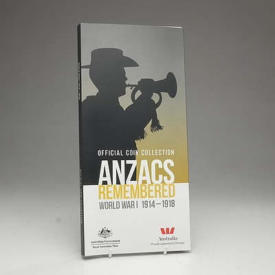 ANZACS Remembered Official Coin Collection - World War I