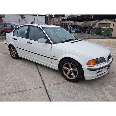 4/1999 Bmw 3 18i E46 4d Sedan White 1.9L