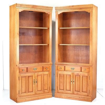 Pair of Roxton Maple Bookshelves