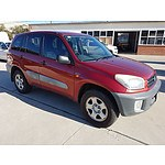 9/2002 Toyota Rav4 EDGE (4x4) ACA21R 4d Wagon Red 2.0L