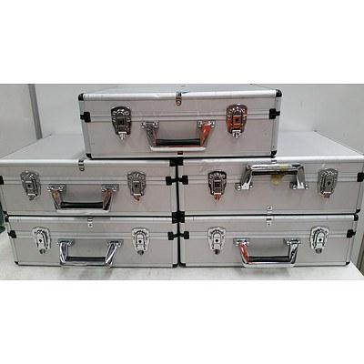 Aluminium Equipment Cases - Lot of Five