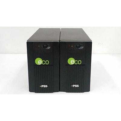 ECO 600VA Free Standing UPS - Lot of Two