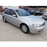 2/2005 Ford Fairmont  BA MKII 4d Sedan Silver 4.0L