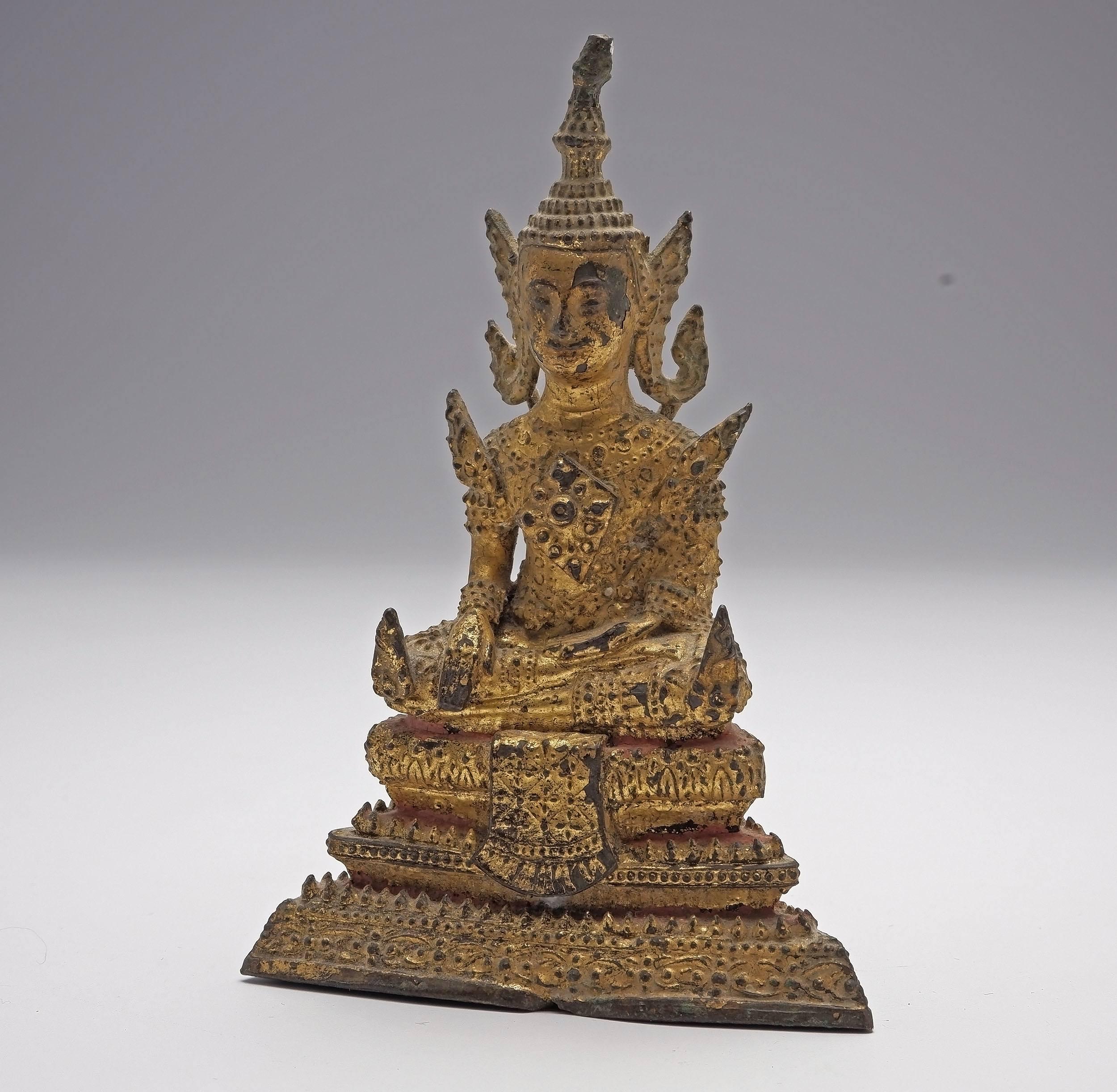 'Thai Gilt Bronze Seated Buddha, 18th Century'