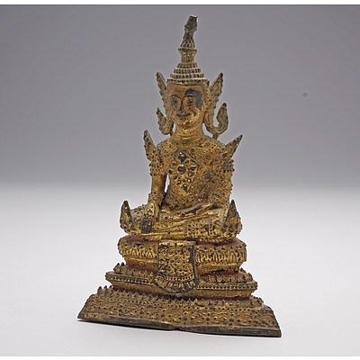 Thai Gilt Bronze Seated Buddha, 18th Century