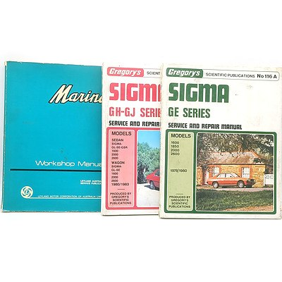 Group of Sigma and Marina Workshop and Service Manuals