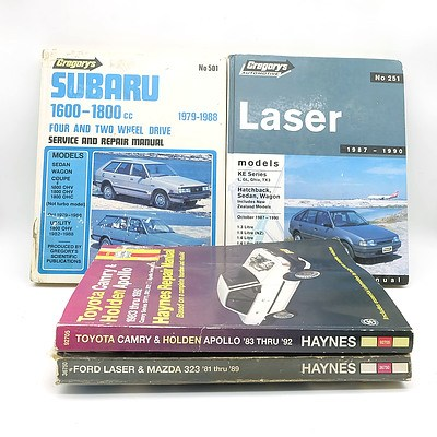 Group of Four Assorted Workshop Service and Repair Manuals