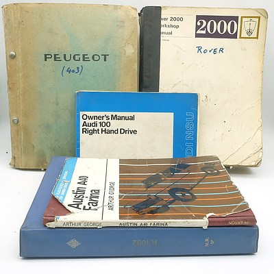 Group of Euro and British Car and Service Manuals