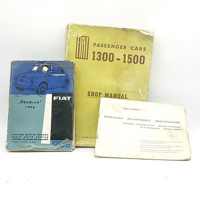 Group of Fiat Operator, Parts and Workshop Manuals