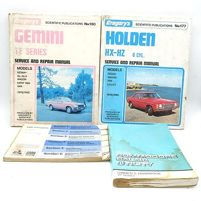 Assorted Holden Workshop and Repair Manuals