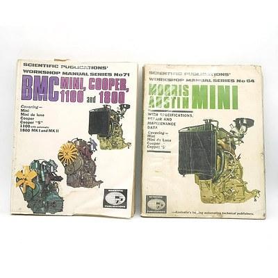 Bmc Mini Cooper 1100 and 1800 Workshop Manual and Morris Austin Mini Workshop Manual.