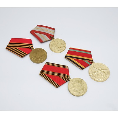 Four USSR Armed Forces Medals