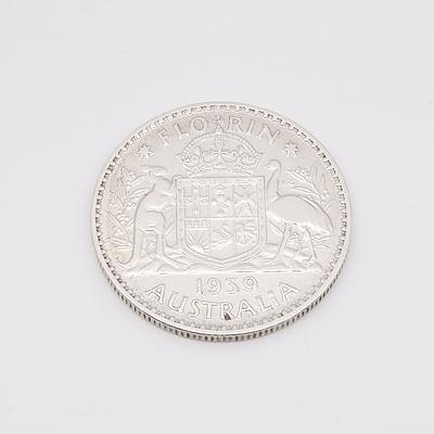 1939 Australian Florin .925 Silver