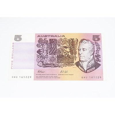 1991 Australian Five Dollar Banknote - Uncirculated