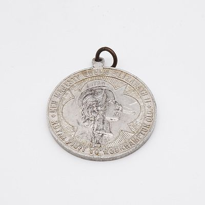 1954 City of Rockhampton Queen Elizabeth II Visit Medallion