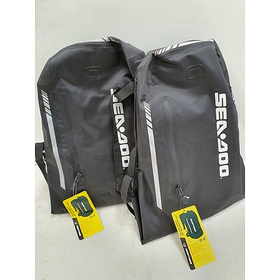 Sea-Doo Dry Backpack Pair *Brand New* RRP $380