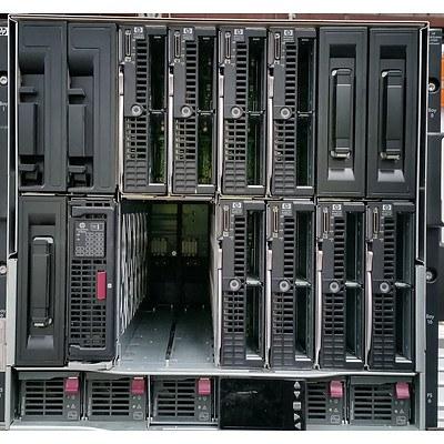 HP BladeSystem c7000 Enclosure w/ Eight HP ProLiant Blade Servers