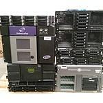 Bulk Lot of Assorted Xeon CPU Servers, Hard Drive Arrays & Tape Library
