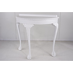 Queensland Maple White Painted Hall Table