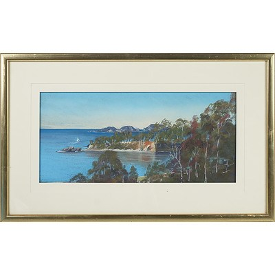 Warren Jones Observation Point Batemans Bay Pastel