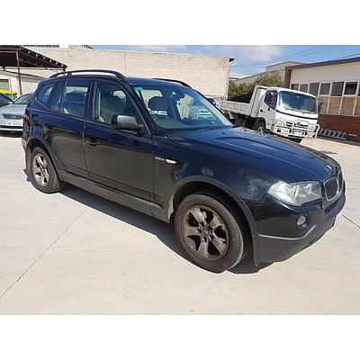 11/2008 Bmw X3 2.0d E83 MY07 4d Wagon Black 2.0L