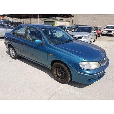 11/2000 Nissan Pulsar LX N16 4d Sedan Blue 1.6L