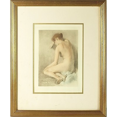 Fernando Amorsolo (Philippines 1892-1972) Untitled Nude, Colour Lithograph
