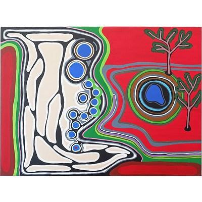Andrea Pindan (1972-) Wirnpa Jila, Acrylic on Canvas