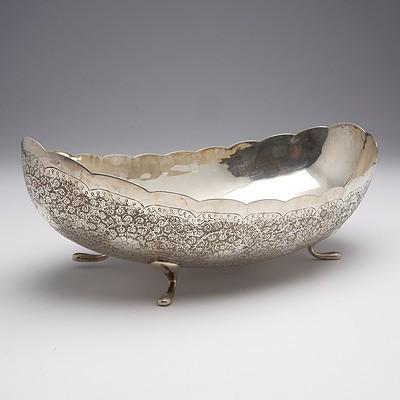 Persian Engraved Silver Bowl 467g