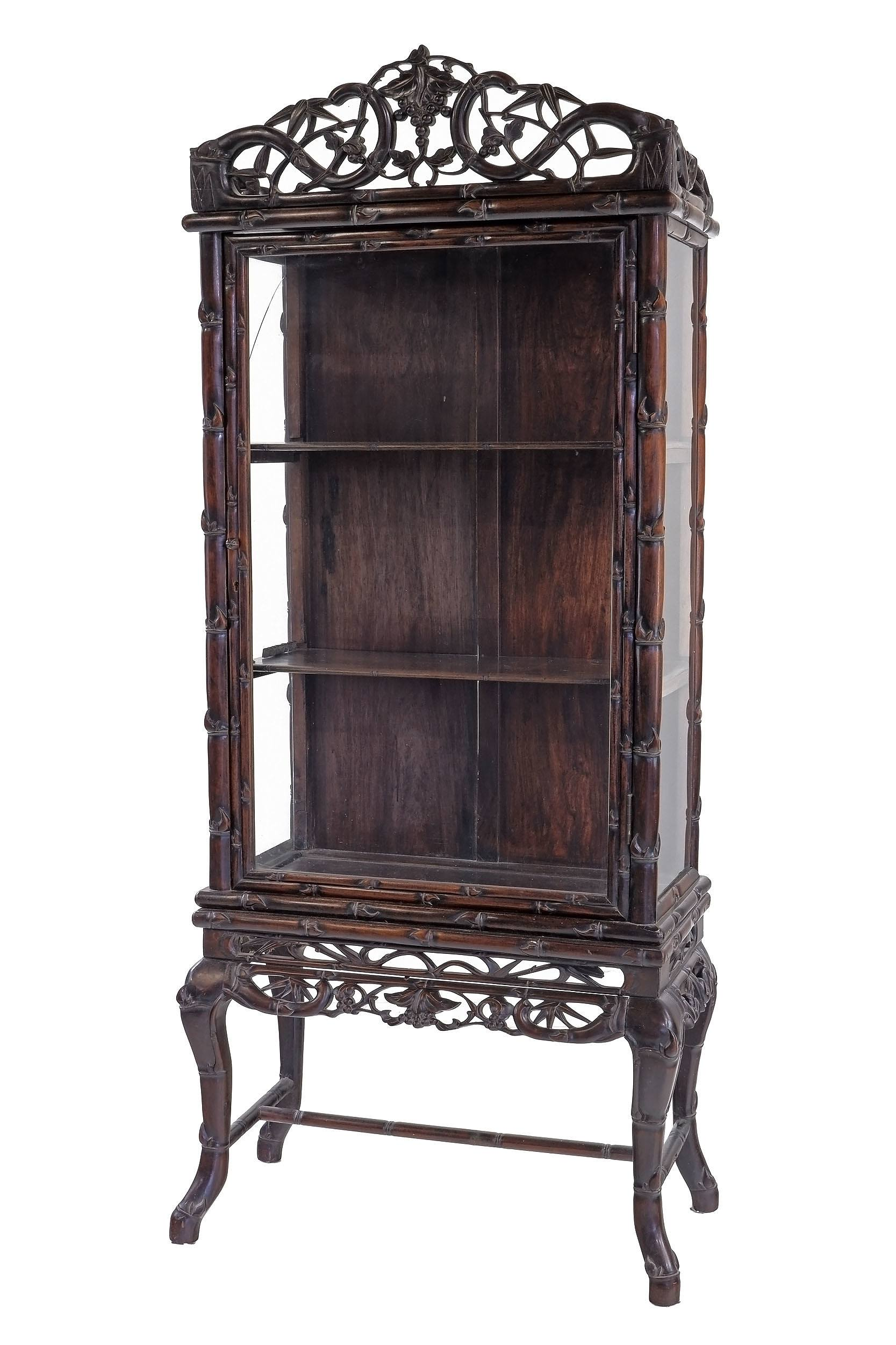 'Chinese Export Hongmu Rosewood Display Cabinet, Late 19th/Early 20th Century'