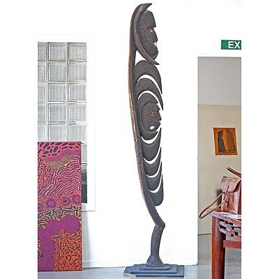 Monumental Papua New Guinea Korewori River Spirit Figure, Yipwon