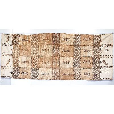 Large Fijian Tapa Cloth