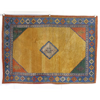 Persian Gabbeh Thick Pile Hand Knotted Wool Pile Rug