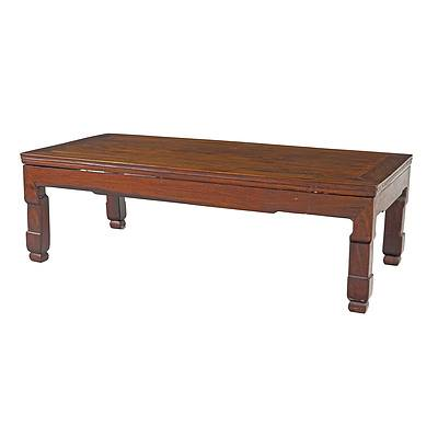 Chinese Hongmu Rosewood Kang Table, 19th or Early 20th Century